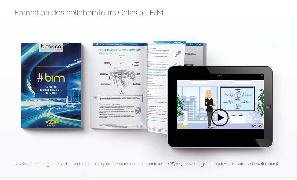Formation des collaborateurs Colas au BIM